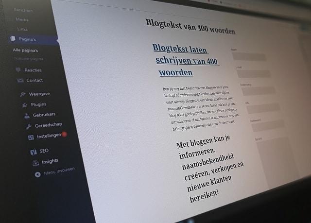 Blogtekst laten schrijven van 400 woorden